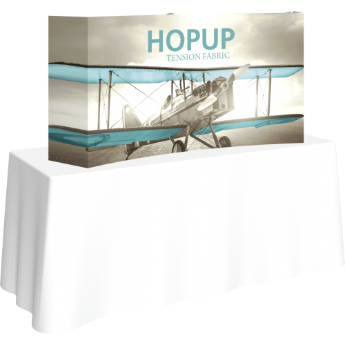 Hopup 5.5ft Curved Tabletop Tension Fabric Display